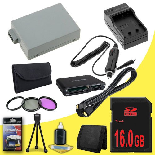 Canon EOS Rebel T2i 18 MP CMOS APS-C Digital SLR Camera (550D / Kiss x4) LP-E8 Lithium Ion Replacement Battery 1500 mAh w/External Rapid Charger + 16GB SDHC Memory Card + 3 Piece Filter Kit + Mini HDMI + USB SD Memory Card Reader /Wallet + Deluxe Starter  by DavisMAX