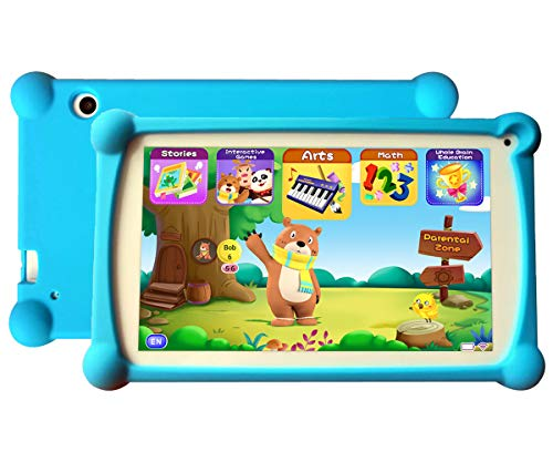 B.B.PAW Kids Tablet, Enhance/Train Kid's Abilities and Develop Talents,120+ Educational Preloaded Apps, 7 Inch HD Display, 1+8G Android 6.0 Tablet-Blue