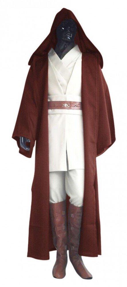 shoperama Deluxe Star Wars Costume, Mens Jedi Obi-Wan Kenobi Complete Set (9Pieces)