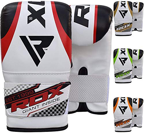 RDX Gel Pro Bag Mitts Boxing Gloves Grappling Punch MMA UFC Muay Thai Training - Red