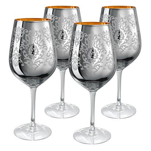 Artland Set of 4 Brocade 27-Oz. Goblets, Silver