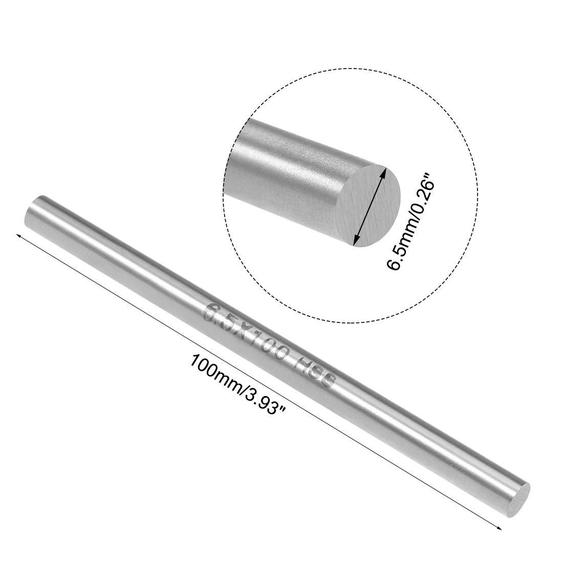 uxcell HSS Lathe Round Rod Solid Shaft Bar 9mm Dia 100mm Length 5Pcs