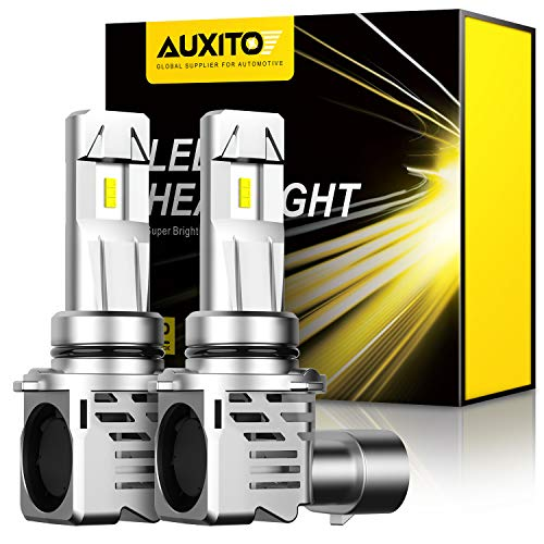 9006-LED-Headlight-Bulbs Wireless Conversion Kit 12000LM Extremely Bright High Low Beam, Newest Gen of AUXITO 6500K White the Brightest Mini 9006 HB4 Headlight Bulb, 2 Year Warranty (2-Pack)