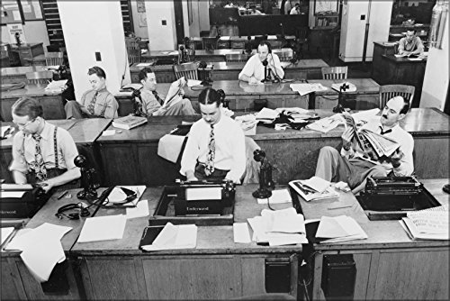 20x30 Poster; Newsroom Of The New York Times Newspaper September 1942