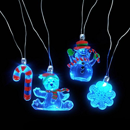 Holiday Sparkle Flashing Holiday Necklaces (12 per (Holiday Flashing Necklace)