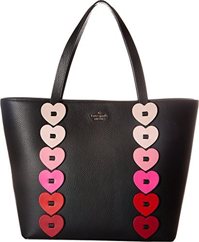 (Kate Spade New York Women's Ours Truly Ombre Heart Tote, Black Multi, One)