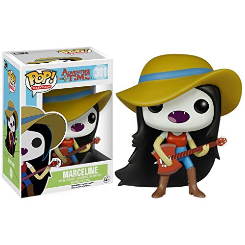 Funko Marceline w/ Guitar: Adventure Times x POP! Animation Vinyl Figure & 1 POP! Compatible PET Plastic Graphical Protector Bundle [#301 / 06975 - B] ()