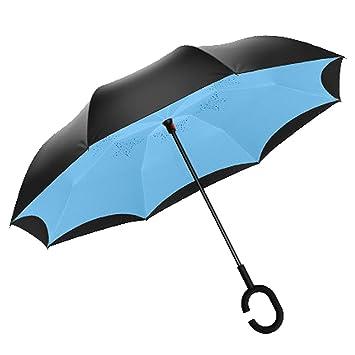 Paraguas inversa | Paraguas al aire libre | Paraguas | Paraguas largo de doble capa |