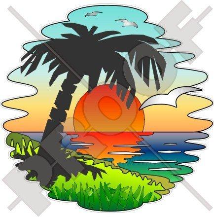 Tropical Sunset Exotic vacaciones, palmera 140 mm (5,5 ...