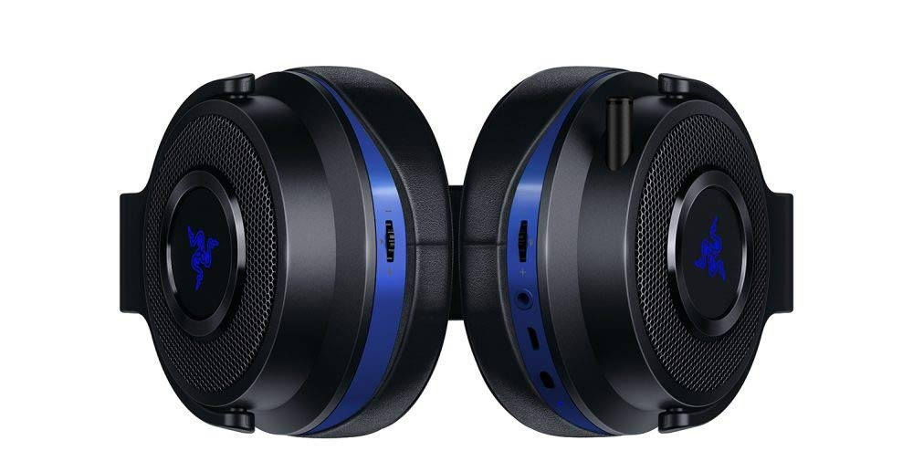 IDS Home Thresher Wired/Wireless Fashion Design Headset for Playstation 4 - Black + Blue by IDS Home