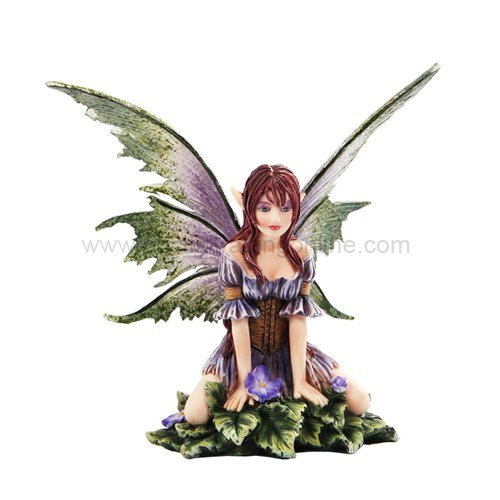 Fantasy Violet Mushroom Enchanted Figurine product image