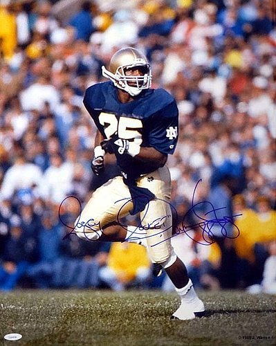 332ec5dab9c Image Unavailable. Image not available for. Color: Raghib Rocket Ismail Signed  16 x 20 Photo Notre Dame Fighting Irish ...