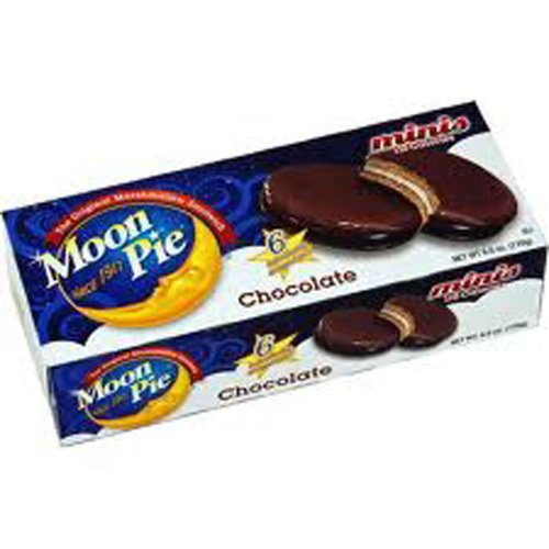 Moon Pie Minis Chocolate Marshmallow Sandwich 110 Calories - 2 Packages