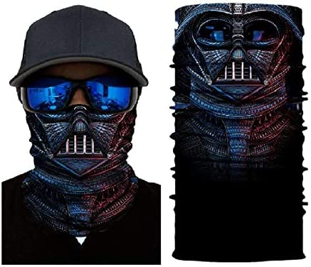 3D Darth Vader Sun Mask Tube Neck Face Scarf Lower Half Face Motorcycle Bicycle Shield Sun Air Soft Outdoor Biker Riding Masks No.175