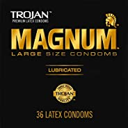 TROJAN Magnum Large Size Condoms For Comfort And Sensitivity, 36 Count, 1 Pack