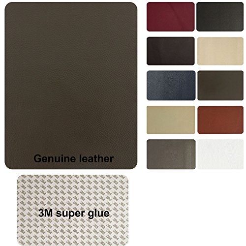TMgroup , leather couch patch, genuine faux leather repair patch , peel and stick for couch , sofas , car seats , hand bags ,furniture, jackets , large size 8-inch x 11-inch (Medium Brown)
