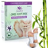 Foot Pads + Free eBook | 20-Pack for 10-Day Cleanse to Remove Impurities | Pain Relief, Energy Boost & Sleep Aid | 100% Natural Ingredients | Bamboo Vinegar | Lavender Aromatherapy | by Sandholt Care