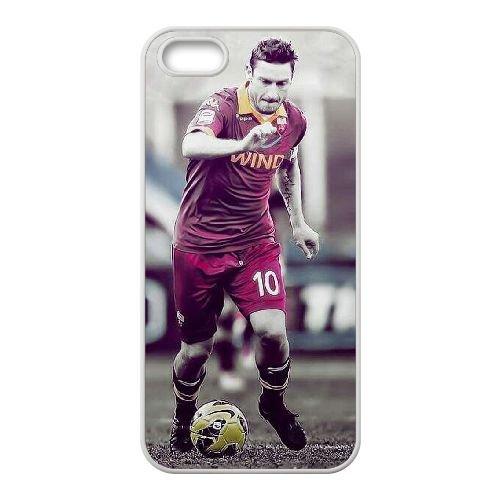 X4K76 Francesco Totti N6V5PM coque iPhone 4 4s cellulaire cas de téléphone couvercle coque blanche DC8QOS9GE
