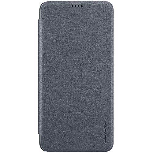 Nillkin Case for Xiaomi Redmi Note 6 Pro Sparkle Leather Flip Folio Book Type PC Black Color