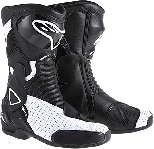 - ALPINESTARS STELLA SMX-6 PERFORMANCE RIDING VENTED WOMENS SPORT-FIT BOOTS,BLACK/WHITE,EUR-36/US-5