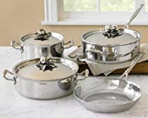Ruffoni Hammered Stainless-Steel 7-Piece Cookware Set