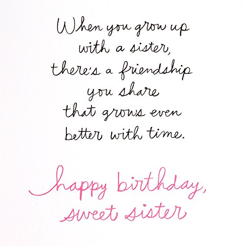 Hallmark Signature Birthday Greeting Card for Sister (Then, Now, Always) Photo #4