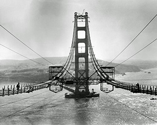 The Golden Gate Bridge During Construction Photo 16 x (Bridge Personal File)