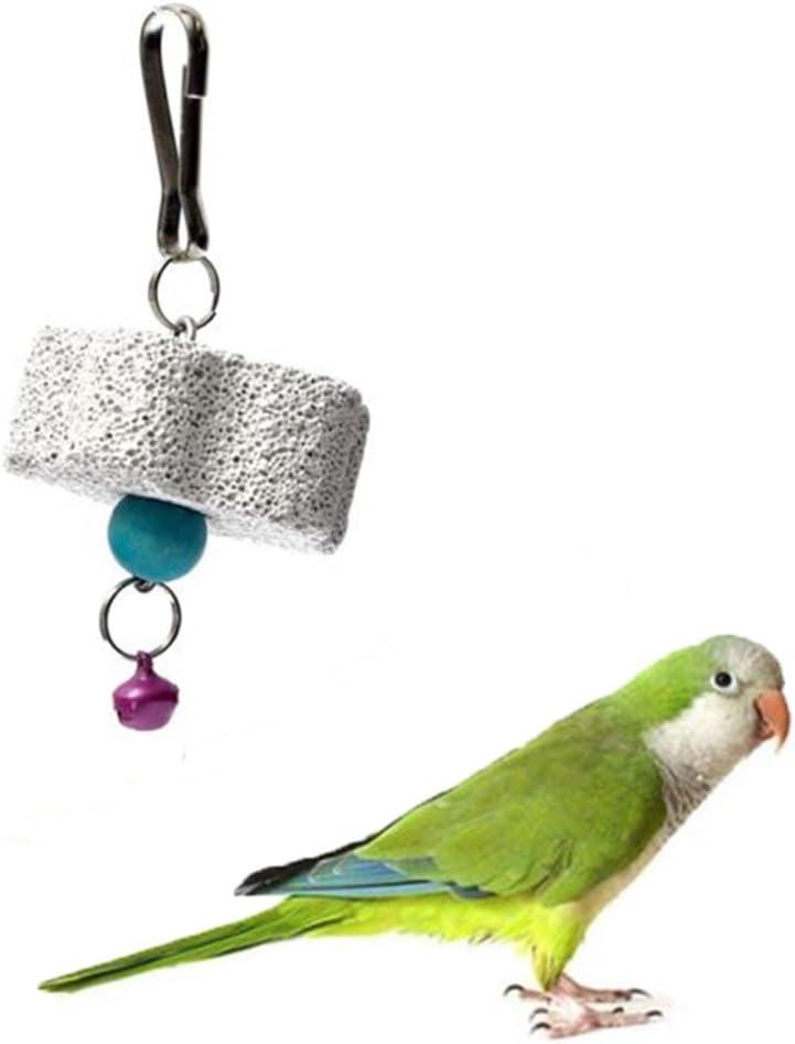 GOOTRADES 2 x Juguetes para Masticar Morder Piedra Molar Tipo Flor para Cotorra/Lora/Loro/Papagayo/Perico/Aves/Pájaro