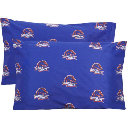 College Covers Boise State Broncos Pair of Solid Pillowcase, (Boise State Bedding)