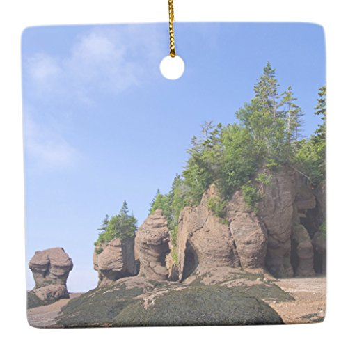 Zazzle Canada, New Brunswick, Hopewell Cape, Bay Of Metal Ornament Square - Hopewell Cape