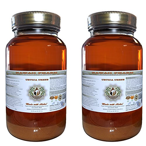 Urtica Urens, VETERINARY Natural Alcohol-FREE Liquid Extract, Pet Herbal Supplement 2x32 oz by HawaiiPharm