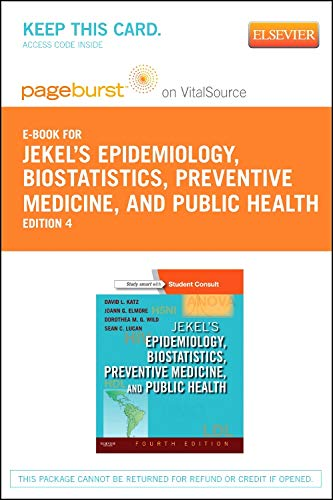 Jekel's Epidemiology, Biostatistics, Preventive Medicine, and Public Health - Elsevier eBook on VitalSource (Retail Access Card)