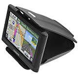 GPS Dash Mount [Matte Black Dock] for Garmin Nuvi Drive Dezl Drivesmart Driveassist DriveLuxe, Tomtom, Magellan Roadmate, Navman - Car Sticky Non-Slip Dashboard 3.5 4.3 5 6 inch Navigation Holder