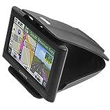 APPS2CAR Dashboard GPS Holder, Universal Car Phone Holder w/Three Slots Adjustment Angles for Mobile Phone & GPS for iPhone X 8 Plus 7 6S Samsung S8 Huawei HTC Garmin TomTom Navman Sat Nav GPS