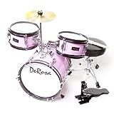 De Rosa DRM312-MPK Children's 3-Piece 12-Inch  Drum Set with Chair, Pink