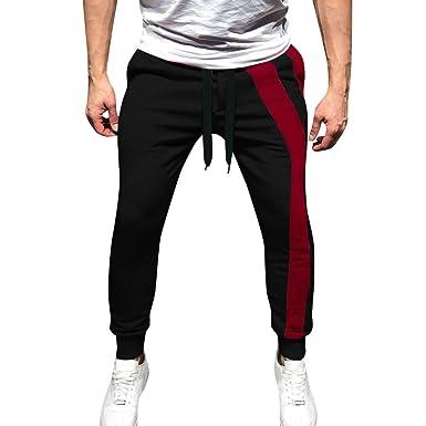 d8cbe1c537 Pantaloni Pantaloncini Cargo da Uomo Jogging Sportivi Lunghi con ...