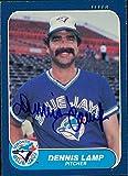 Signed Lamp, Dennis (Toronto Blue Jays) signed 1986 Fleer Baseball Card autographed