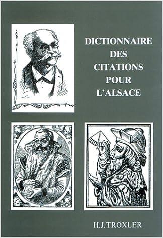 En ligne téléchargement gratuit Dictionnaire des citations pour l'Alsace epub, pdf
