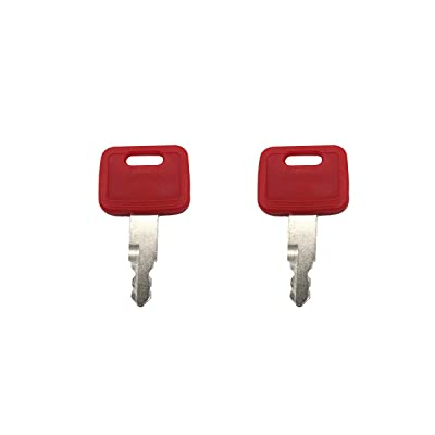2 Pcs AT194969 AT147803 H800 Ignition Key fits Excavator John Deere Excavator Case Hitachi New Holland: Automotive