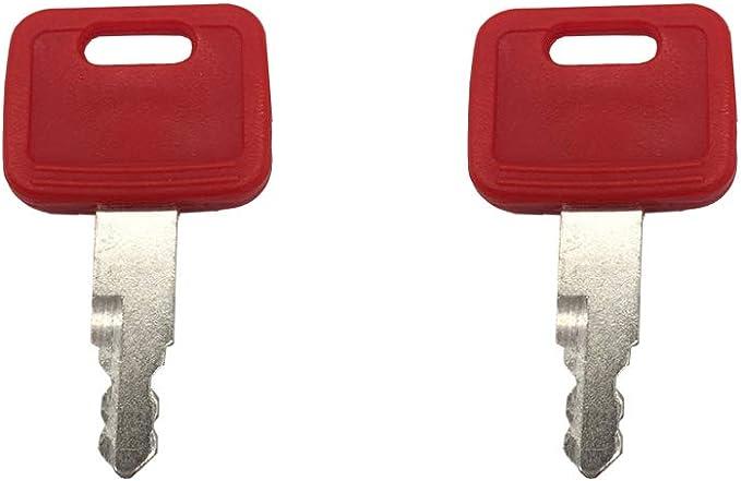 5PC Excavator Ignition Key Fit for John Deere Hitachi H800 Some Case Dozer Fiat