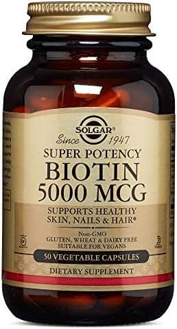 Solgar – Biotin 5,000 mcg, 50 Vegetable Capsules