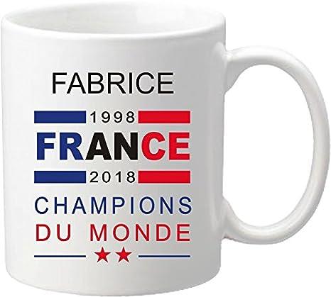 Du Football Coupe Mug L'équipe Monde Maillot 2018 Offrez Ce Vous De Champions Personnalisé France 2YHeWDEI9b