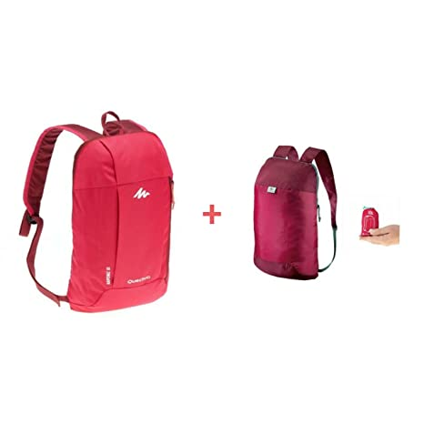 1093bfa78837 Quechua COMBO ULTRA-COMPACT 10 LITRES EXTRA BACKPACK PLUS NH100 10L HIKING  BACKPACK (Combo