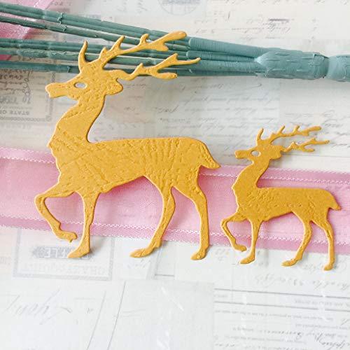 Golden Elch Stencil Cutting Dies Scrapbook Karte Tagebuch Stanzschablone gut
