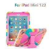 iPad Mini Case,iPad Mini 2 Case, iPad Mini 3 Kid Case Shockproof Drop Resistance for iPad Mini 321 (Ice Cream/Rose)