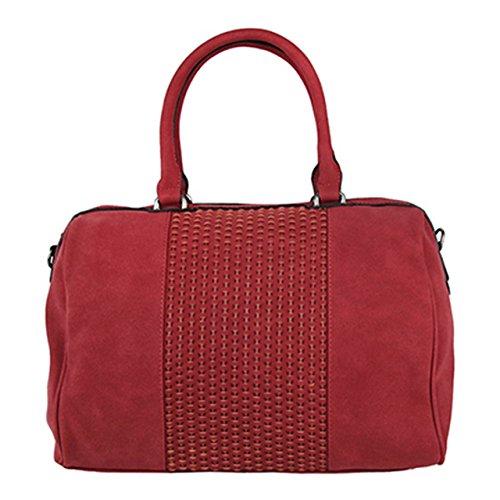 BELOVEDbag 17-04-1-003 - Bolso de Material Sintético Mujer Rojo