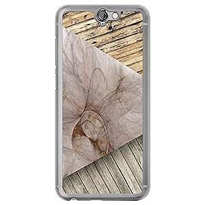 Loud Universe HTC One A9 Madala N Marble A Wood 005 Printed Transparent Edge Case - Brown