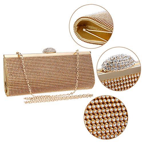 Bal Bandouliere Bourse à Femme Maquillage Sac Fête pour Chaîne Pochette Main Gold Soirée Mariage Sac Clutch zz18q5