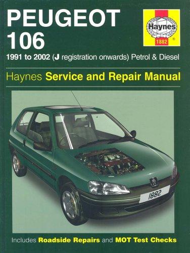 Haynes peugeot 106 petrol diesel rallye tu series engine service.