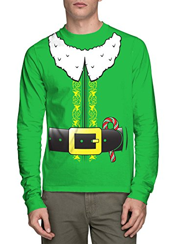 HAASE UNLIMITED Long Sleeve Men's Elf Costume Shirt (Kelly, X-Large)]()
